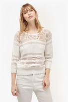 Romy Knits Crochet Detail Jumper