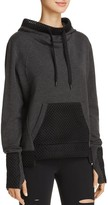 Alo Yoga Eclipse Mesh-Trimmed Hooded Sweatshirt