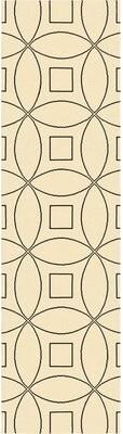 "Wrought Studio Quercia Geometric Handmade Tufted Wool Peach/Blue Area Rug Rug Size: Runner 2'6"" x 9'"