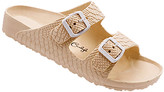 Jessica Carlyle Women's Sandals SAND - Sand Croc-Embossed Double-Strap Summer Sandal - Women