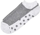 Melton Lancaster Grey Melange Dots Sole Sneaker Socks