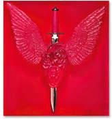 Lalique Eternal Prayer Panel - Red & Platinum