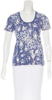 Tory Burch Abstract Print Short Sleeve Top