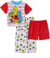Character Sleepwear Boys' 3Pc Sesame Workshop Set