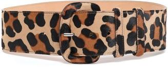 Michael Kors Leopard-print Calf Hair Belt