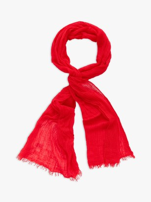 White Stuff Skinny Recycled Polyester Scarf, Bright Red