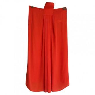 Eres \N Orange Silk Dress for Women