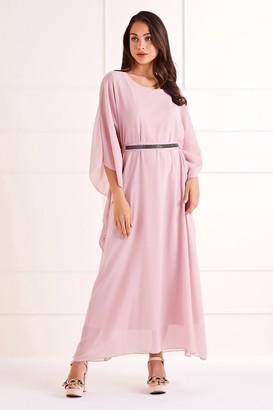 Yumi Pink Sheer Maxi Dress
