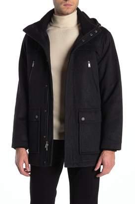 Pendleton Bainbridge Wool Blend Removable Hood Coat