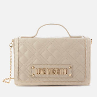 Love Moschino Women's Quilted Top Handle Bag - Ivory