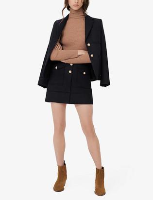 Maje Janao woven mini skirt