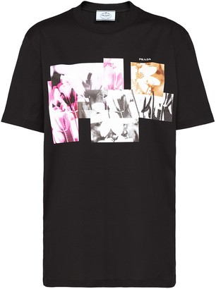 Prada floral photograph print T-shirt
