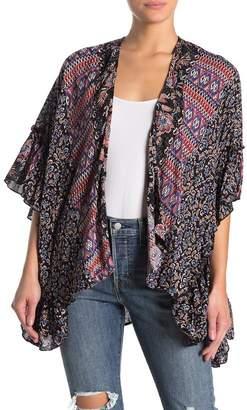 Angie Ruffle Sleeve Kimono