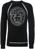 Versace Medusa cable knit sweatshirt