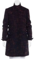 RED Valentino Knee-Length Tweed Coat
