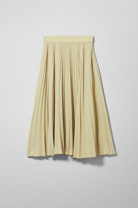 Weekday Valentin Pleated Skirt - Beige