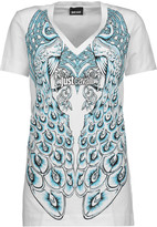 Just Cavalli Printed stretch-cotton T-shirt