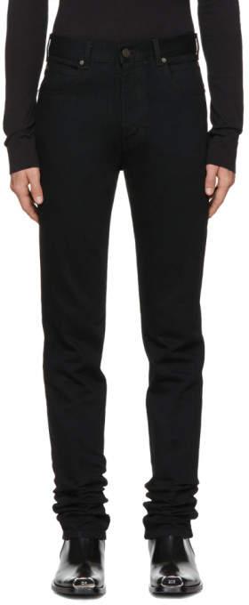 Calvin Klein Black High-Rise Straight Jeans