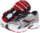 Saucony Boys' Cohesion 6 LTT, Silver/Navy/Red-13.5 Youth