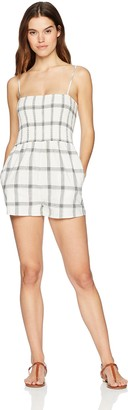 MinkPink Women's Smocked Check Playsuit