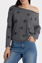Only Galaxy Long Sleeve Off Shoulder Sweater