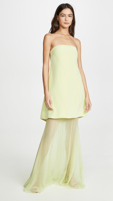 Cushnie Strapless Tiered Gown