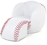 Gift Mark Baseball Kids Novelty Chair and Ottoman