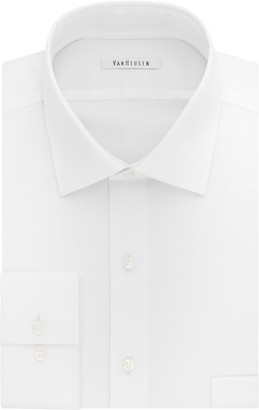 Van Heusen Mens Flex Collar Fitted Stretch Dress Shirt
