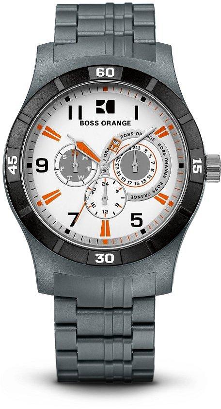 HUGO BOSS '1512534'   Chronograph Grey Multifunction Plastic Strap Quartz Watch by BOSS Orange
