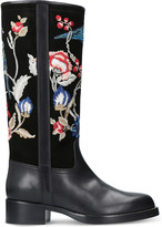 Etro Embroidered leather and suede boots