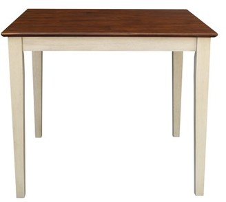 "INC International Concepts 36"" Square Dining Table with Shaker Legs in Antiqued Almond/Espresso"