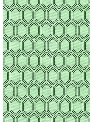 East Urban Home Geometric Wool Green Area Rug Rug Size: Runner 2' x 5'