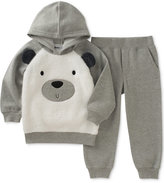 Kids Headquarters 2-Pc. Bear Hoodie and Jogger Pants Set, Baby Boys (0-24 months)