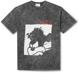 Aries Acid-Washed Printed Cotton-Jersey T-Shirt - Men - Black