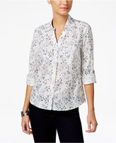 Style&Co. Style & Co Cotton Printed Shirt, Only at Macy's