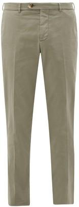 Brunello Cucinelli Leisure-fit Cotton-blend Trousers - Green