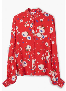 Lily & Lionel Love Heart Floral Maddox Shirt - xsmall - Red
