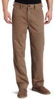 Haggar Men's LK Life Khaki Relaxed Straight Fit Flat Front Chino Pant