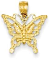 Bijou 14k Diamond Cut Butterfly Pendant