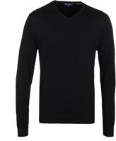 Aquascutum Black Patch V-neck Sweater