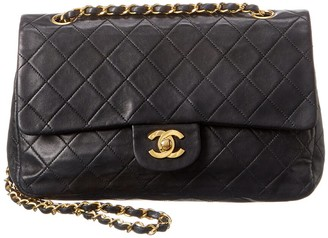 Chanel Black Quilted Lambskin Leather Classic Medium Double Flap Bag
