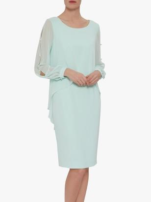 Gina Bacconi Anushka Crepe Chiffon Dress