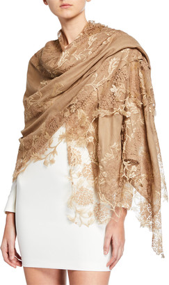 Bindya Accessories Lace Embroidery Stole