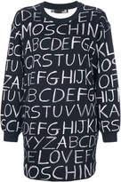 Love Moschino alphabet print sweater dress