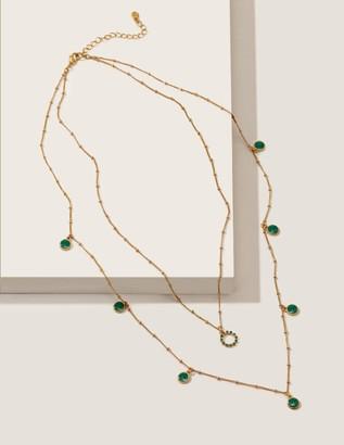 Enamel Layered Necklace