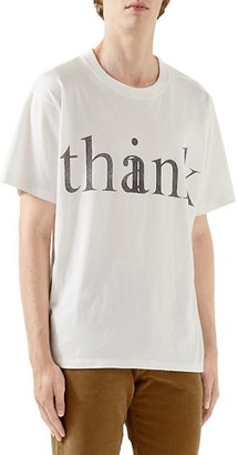 Gucci Think/Thank Print Oversize T-Shirt