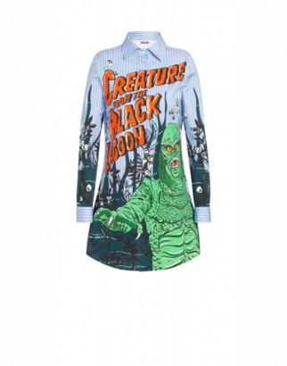 Moschino Black Lagoon X Universal Shirt Woman Blue Size 36 It - (2 Us)