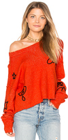 Wildfox Couture Alchemy Icons Sweater in Orange. - size L (also in M,S,XS)