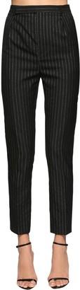 Saint Laurent Classic Pinstripe Cool Wool Pants