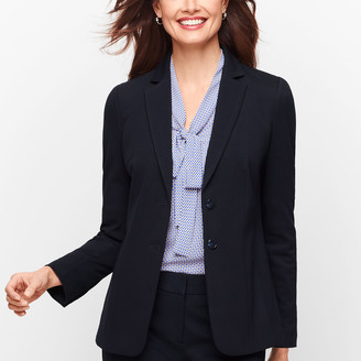 Talbots Italian Luxe Knit - Two Button Blazer